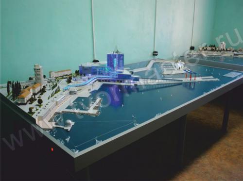 Макет морского порта города  Анапы и яхт-марины Горгипия