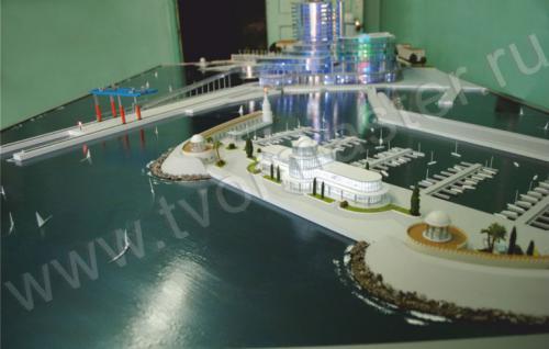Макет морского порта города  Анапы и яхт-марины Горгипия3