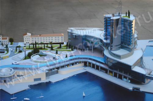 Макет морского порта города  Анапы и яхт-марины Горгипия6
