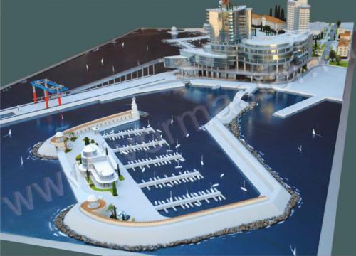 Макет морского порта города  Анапы и яхт-марины Горгипия7