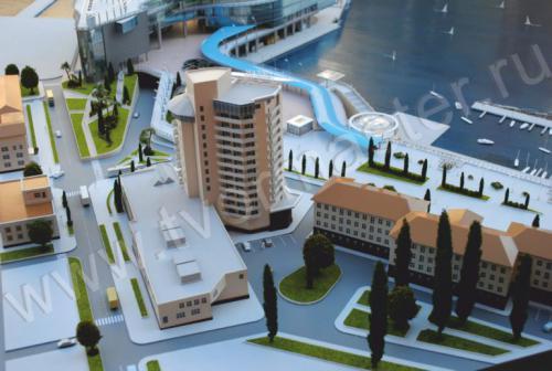 Макет морского порта города  Анапы и яхт-марины Горгипия15
