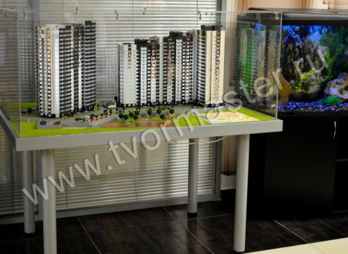 Макет жилого комплекса по ул. Береговая 2