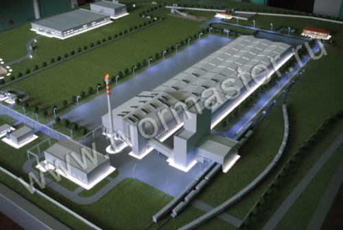 Макет кластера стеклотарного производства в Крымском районе на базе ООО Русджам-Кубань