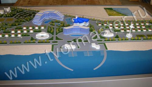 Макет инвестиционной площадки БИРЮЗА на курортной местности ДАРВАГЧАЙ