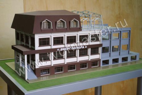 Макет поэтапного строительства панельного офисного здания на ул. Новороссийская 238/1