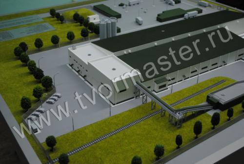 Макет завода по производству изделий из ячеистых бетонов автоклавного твердения в ст. Васюринской