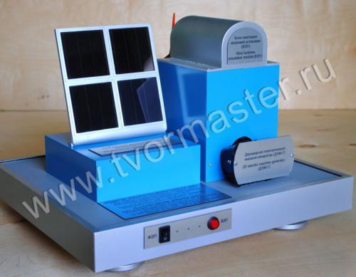 Действующий макет двухмерной электрической машины-генератора